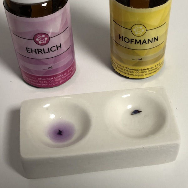 Testing LSD with Ehrlich reagent and Hofmann