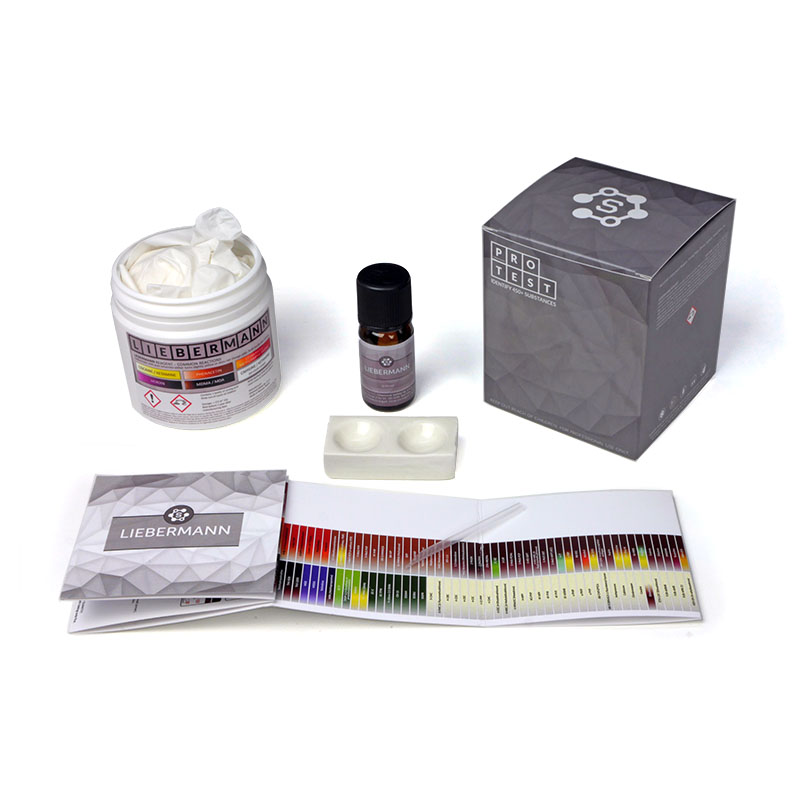 Multiple-use Liebermann reagent test kit