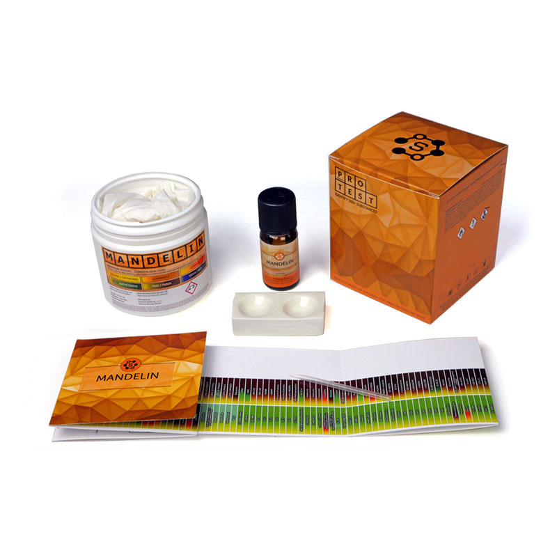 Multiple-use Mandelin reagent test kit