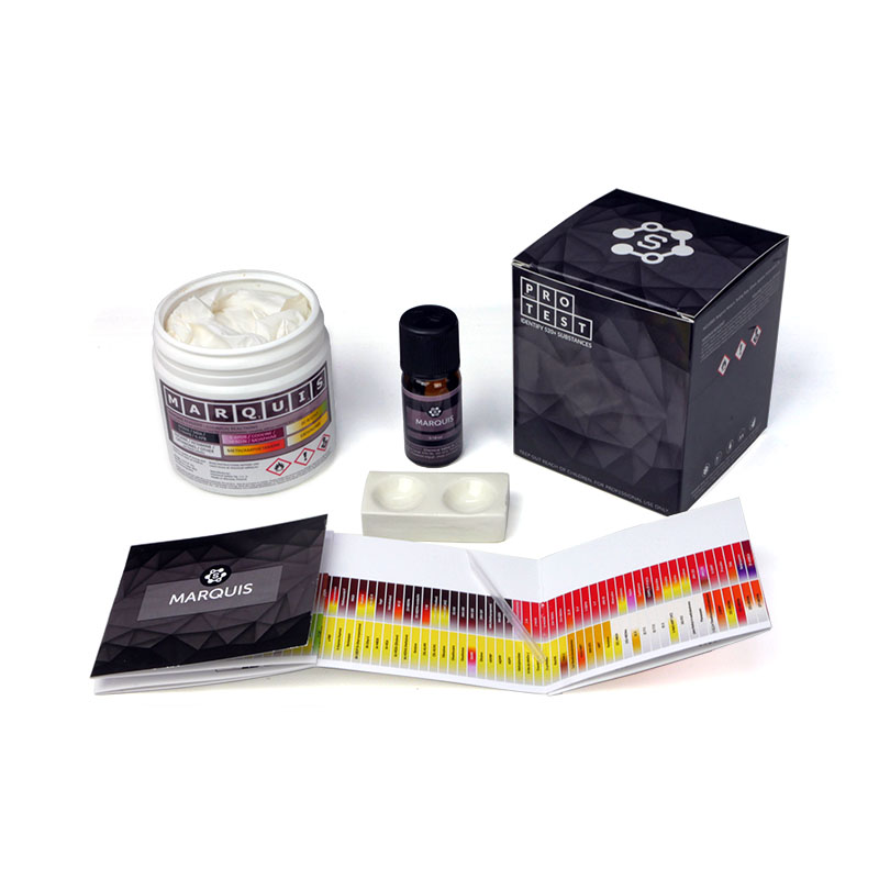 Multiple-use Marquis reagent test kit