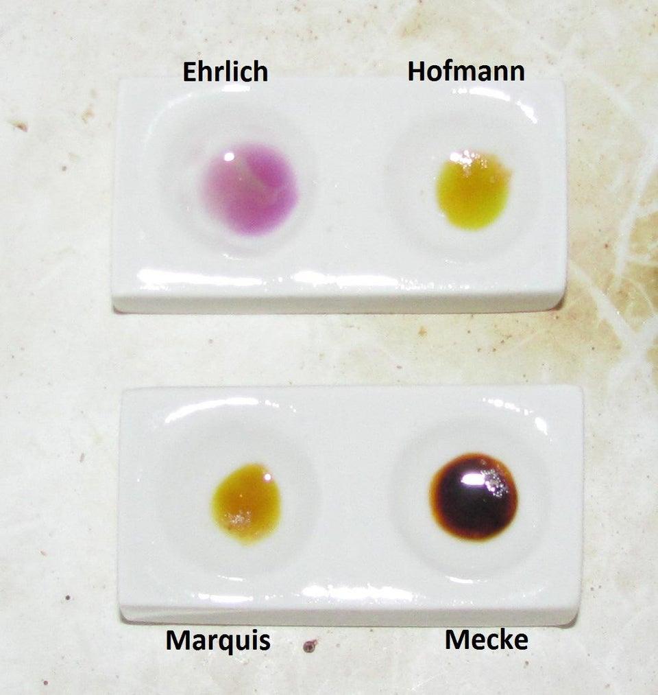 Hofmann and Ehrlich reagent tests for LSD